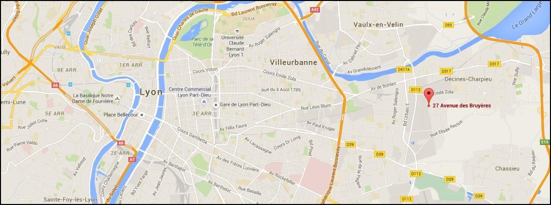map decines charpieu