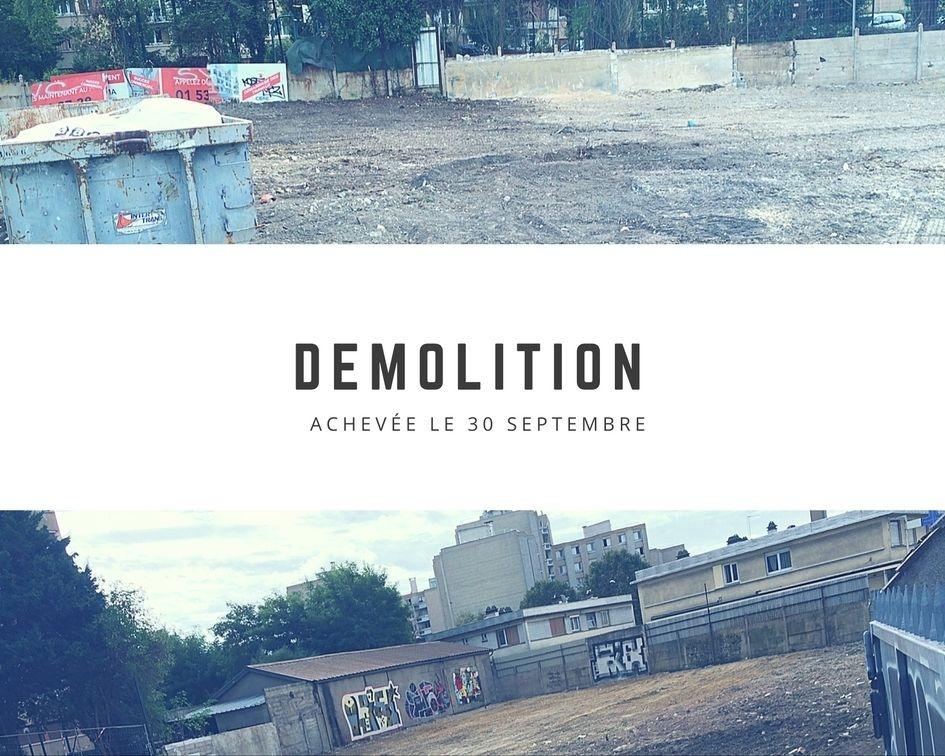 demolition novembre montreuil