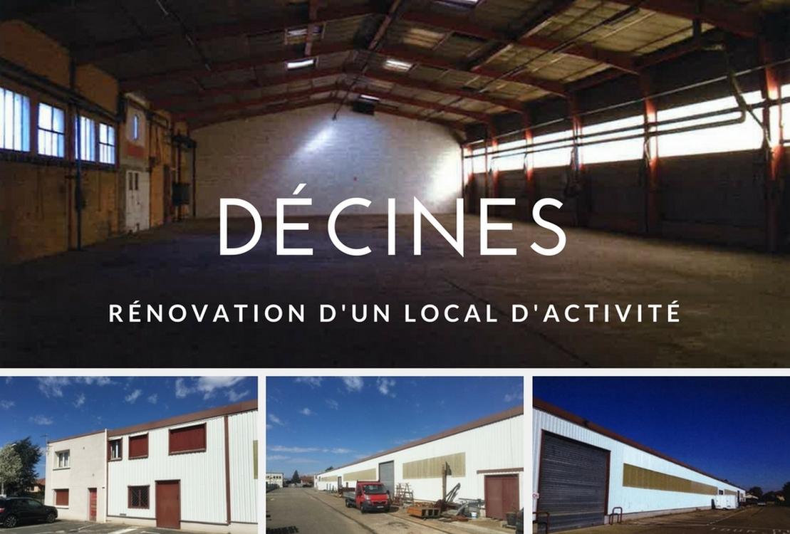 Rénovation d'un local d'activité à Décines – Parc des Bruyères