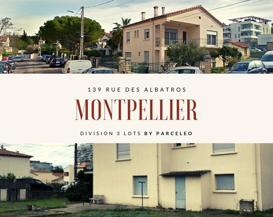 Division parcellaire Quartier La Lironde à Montpellier
