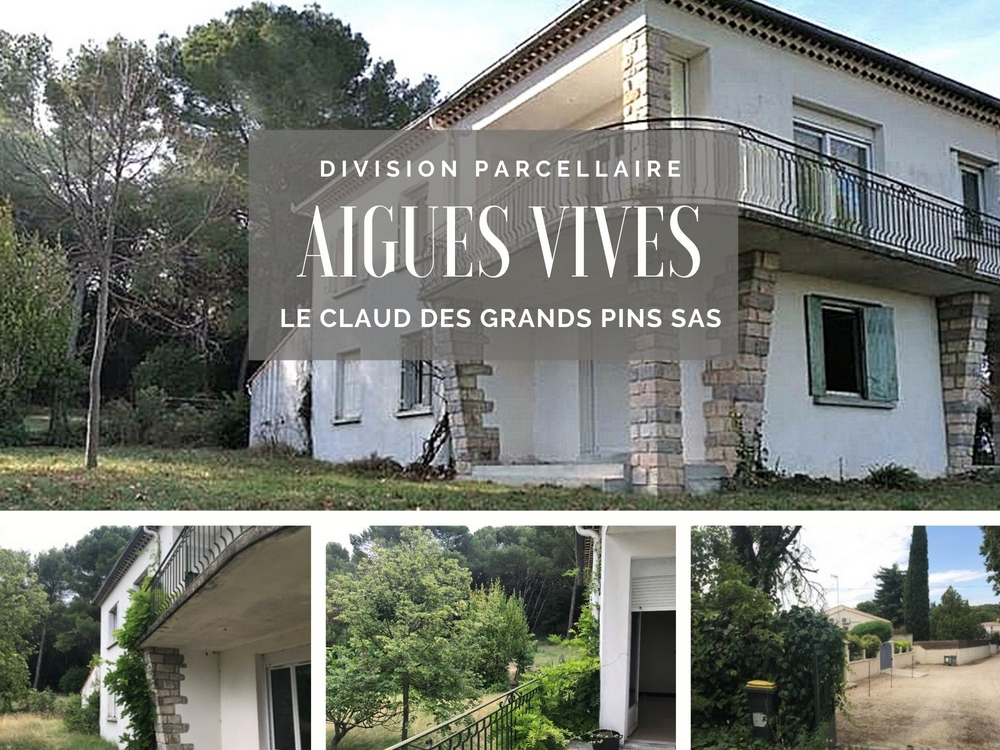 Division parcellaire à Aïgues Vives dans le Gard